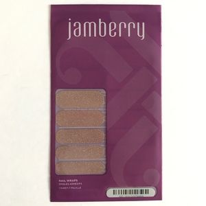 Full Sheet of Jamberry Nail Wrap Rose Gold Sparkle
